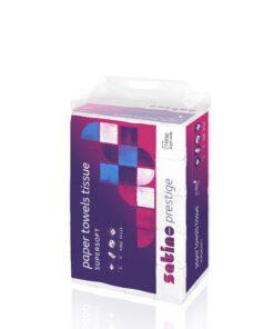 Prosoape pliate albe SATINO PRESTIGE, 2 straturi, 200 prosoape/pachet