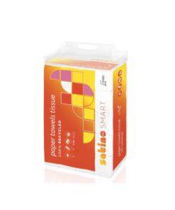 Prosoape pliate verzi SATINO SMART 2 straturi, 200buc/pachet