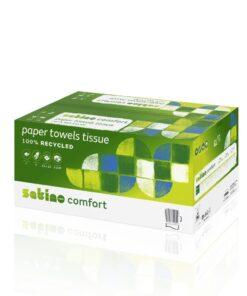 Prosoape pliate verzi Satino Comfort