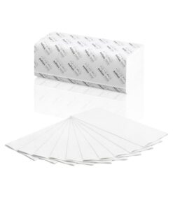 Prosoape pliate albe SATINO COMFORT 2 straturi